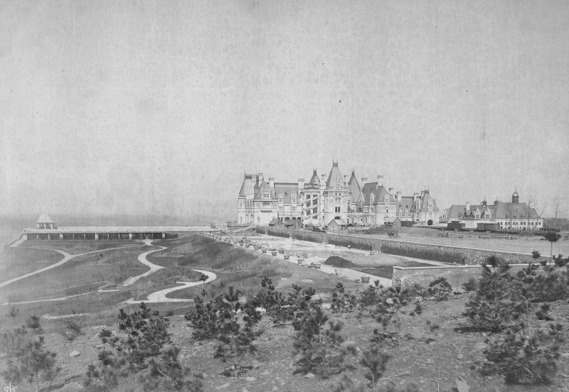 Biltmore House East Elevation, March 26, 1895