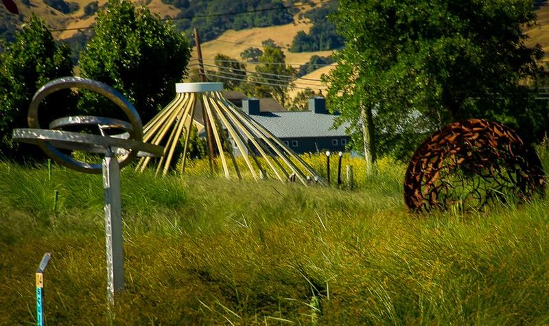 Include a sculpture garden visit when exploring Sonoma County, California.