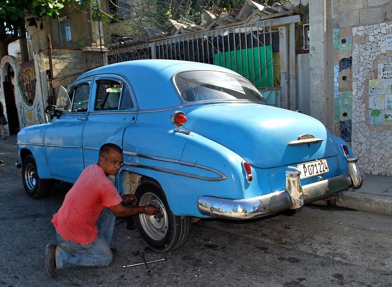 Keeping a classic car going in Cuba