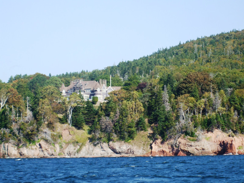 You'll see the Estate of Alexander Graham Bell when sailing Bras D'or Lake in Nova Scotia.