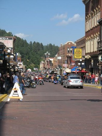Riding down the street in Sturgis