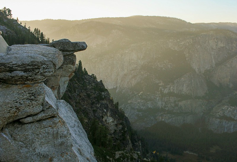 View into Yosemite National Park from Glacier Point