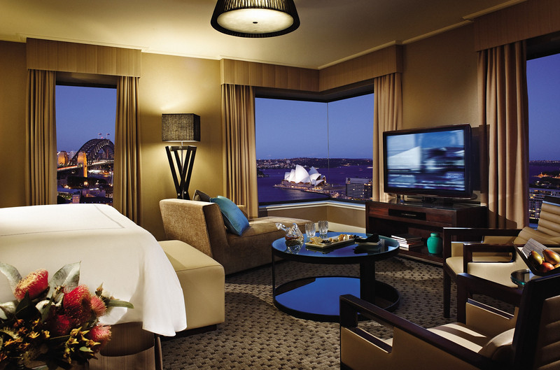 The full harbor view suite at the Four Seasons Hotel Sydney offers a luxurious experience for the boomer traveler. #sydney #luxuryhotel #boomertravel