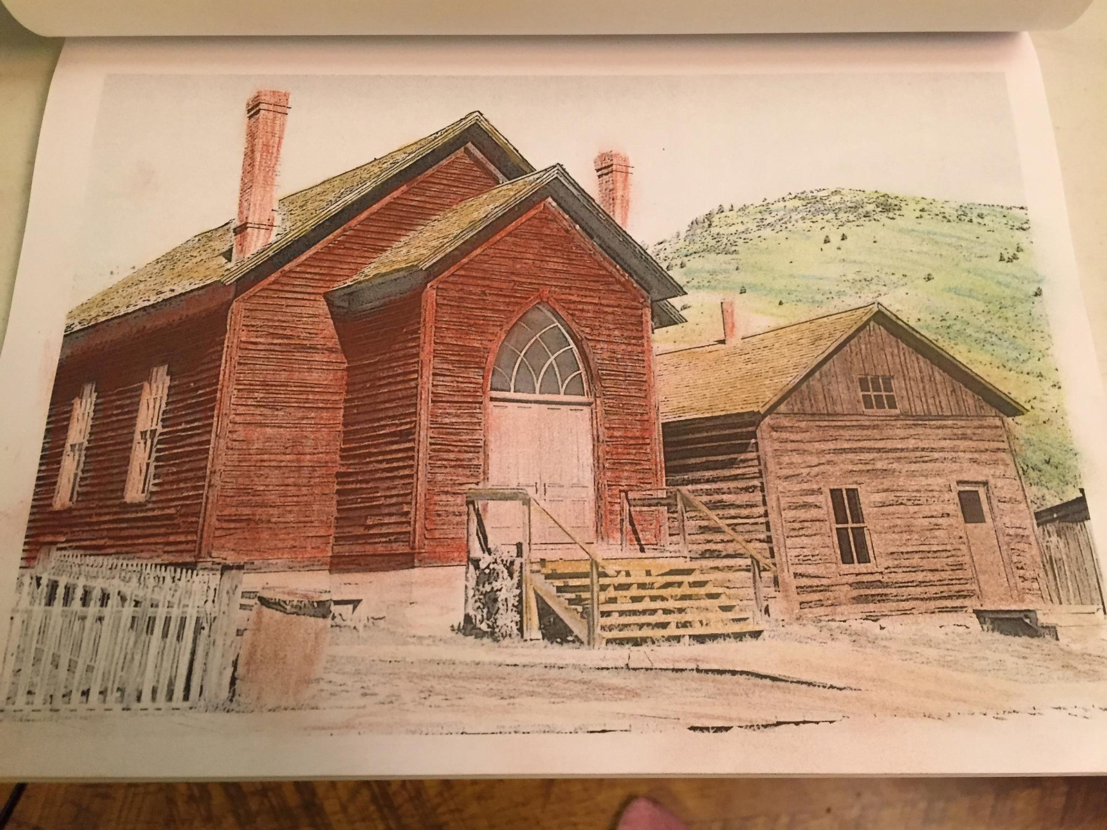 The ghost town in Bannack State Park is another coloring page from Coloring the West, An Adult Coloring Book for Travelers.