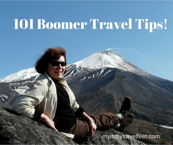 Subscribe to My Itchy Travel Feet for your FREE copy of 101 Boomer Travel Tips!