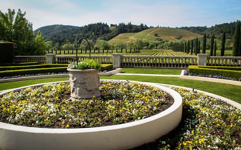 Gardens and wineries make a great combination in Sonoma County, California.