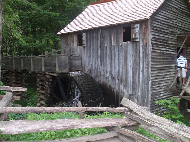 Grist mill at Cades Cove in the Smoky Mountains