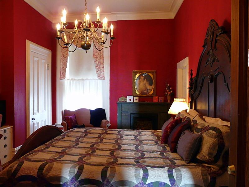 The Scarlet Bedroom at Baer House Inn