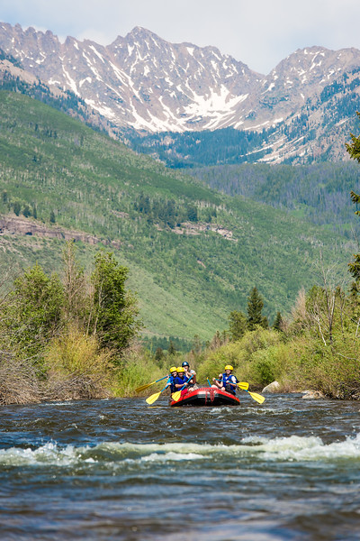 Colorado rafting on a summer adventure in Vail. Photo by Jack Affleck. ©Vail Resorts